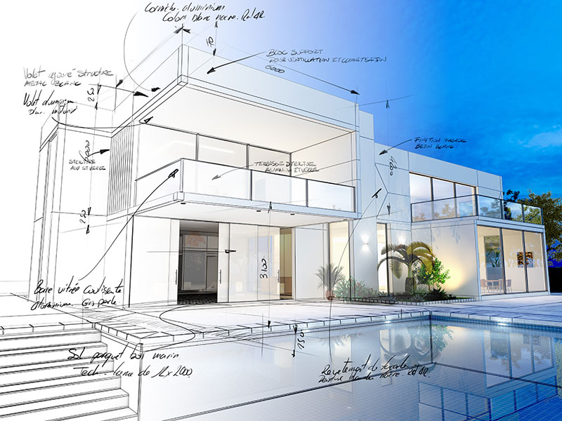 Current luxury home projects by Grandeur By Design
